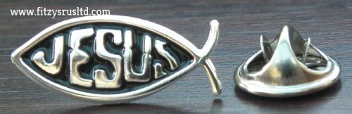 Jesus Fish Lapel Hat Cap Tie Pin Badge - Holy Christian Religious Gift Souvenir